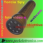 Vai alla scheda di: Codice. P10361 Torcia Spy 4 gb di memoria, video, foto e webcam