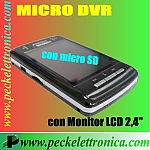 Vai alla scheda di: Codice. P12312 Micro DVR LCD memoria interna 2 Gb espandibile 2 ingressi video.